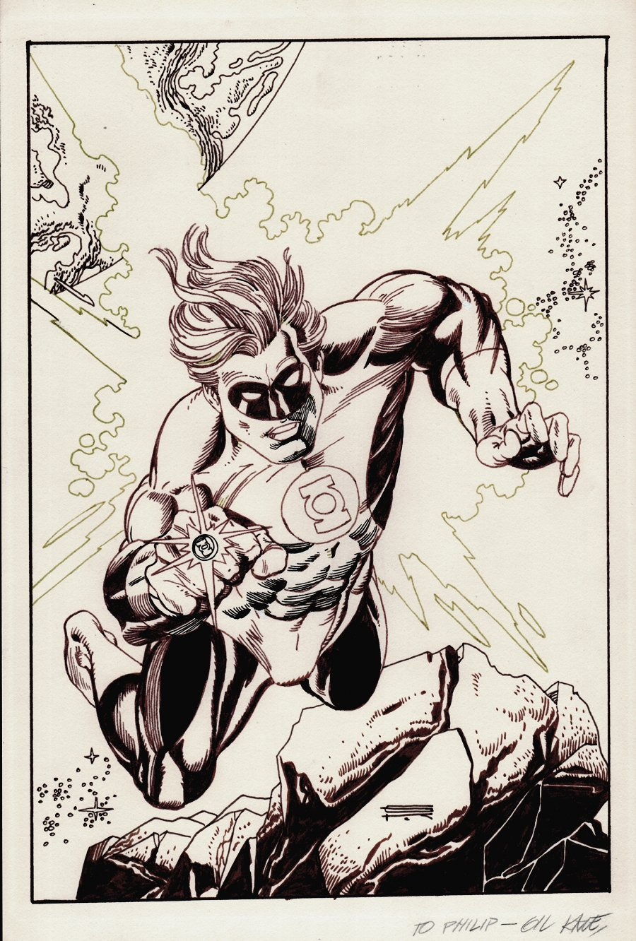 Green Lantern Gallery cover GK inks