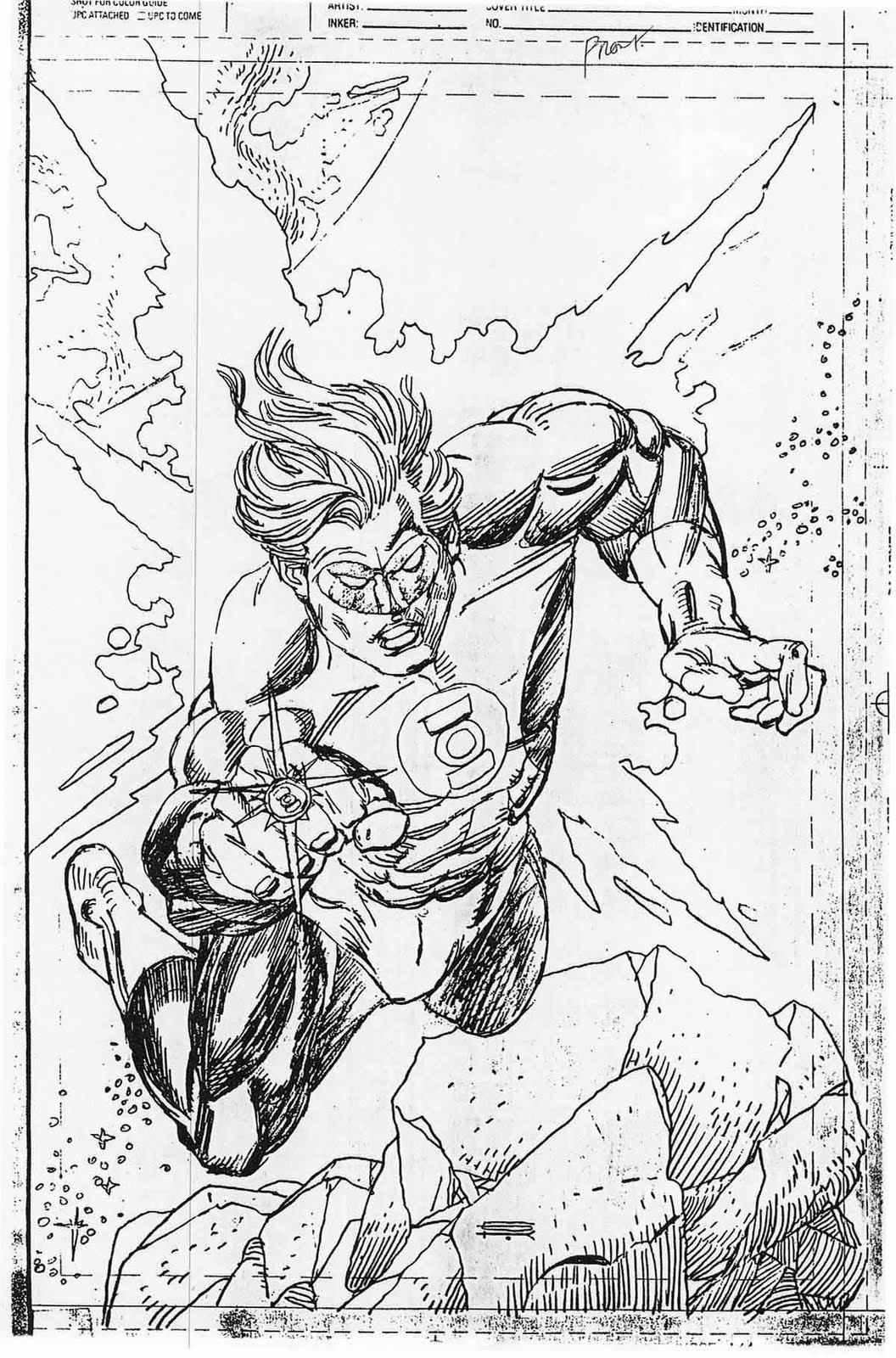 Green Lantern Gallery cover pencils