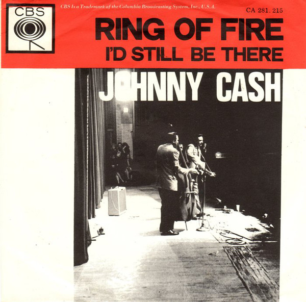 Johnny Cash Ring of Fire Single